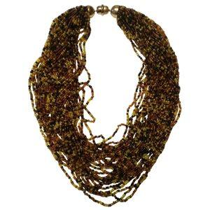 🇨🇦 Vintage KJL torsade chech glass necklace
